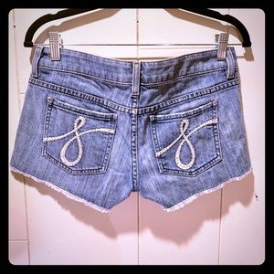 Juicy Couture Mini Jean Shorts S 27